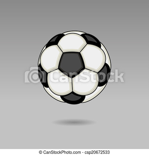 Bola de fútbol sobre fondo ligero. Vector - csp20672533