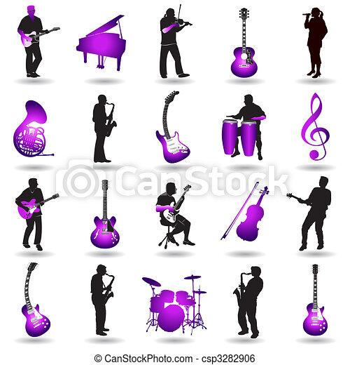 Elementos de música vector - csp3282906