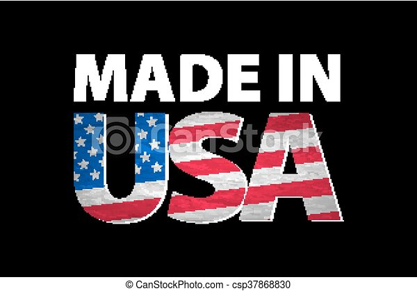 Vector Made in the USA logo vector - csp37868830