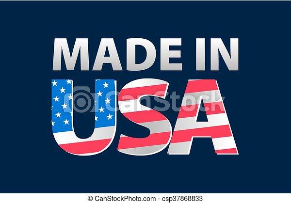 Vector Made in the USA logo vector - csp37868833