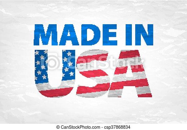 Vector Made in the USA logo vector - csp37868834