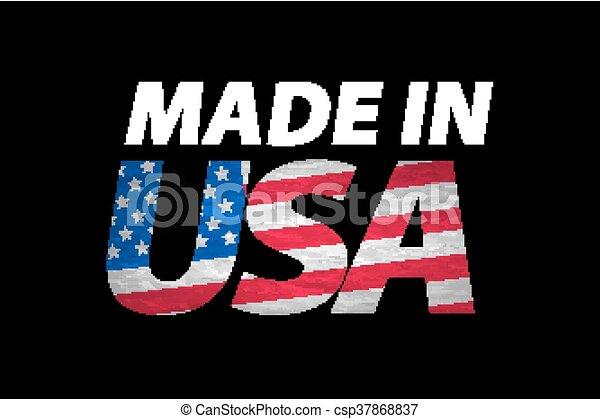 Vector Made in the USA logo vector - csp37868837
