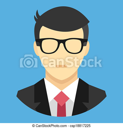 Vector Man in Business Suit Icon - csp18817225