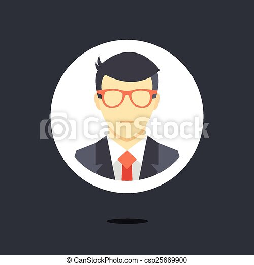 Vector man in business suit icon - csp25669900
