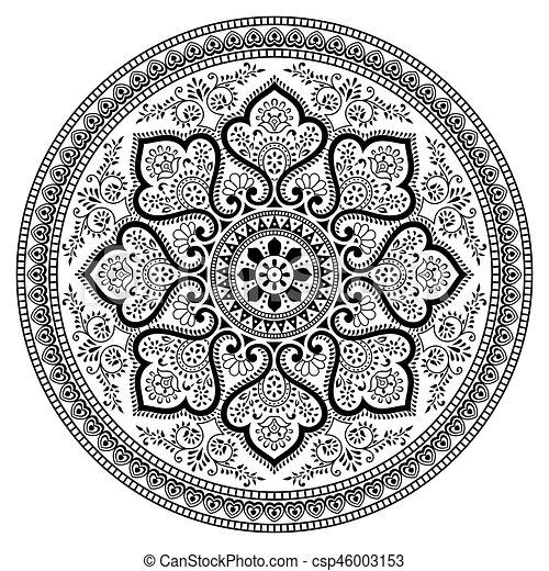 Vector - Mandala design on white background - csp46003153
