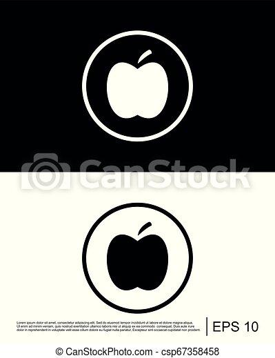 Vector de icono de manzana - csp67358458