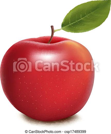 Vector de manzana roja - csp17489399