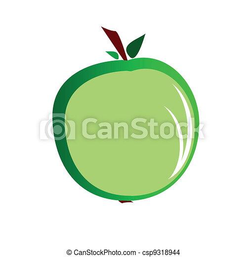 Ilustración de vectores de manzana verde - csp9318944