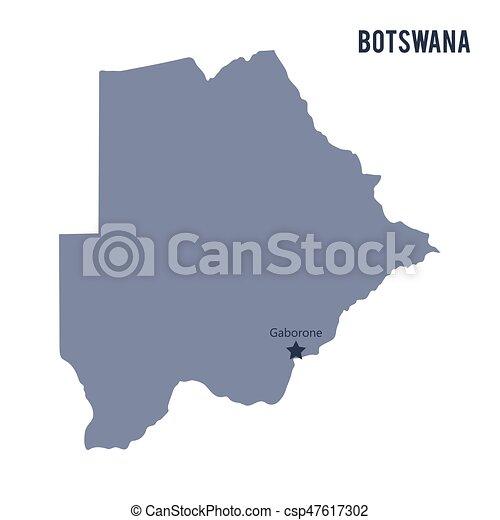 Vector map of Botswana isolated on white background. - csp47617302