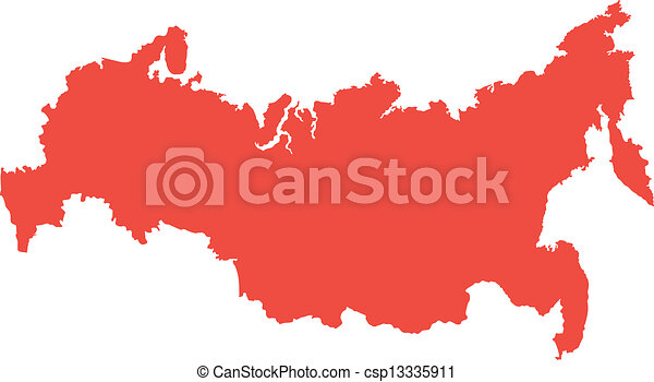 Vector map of russia vector clip art Search Illustration