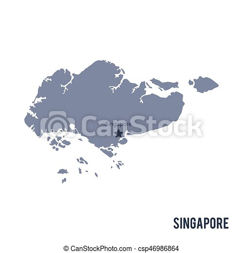 Vector map of singapore isolated on white background. travel vector ...