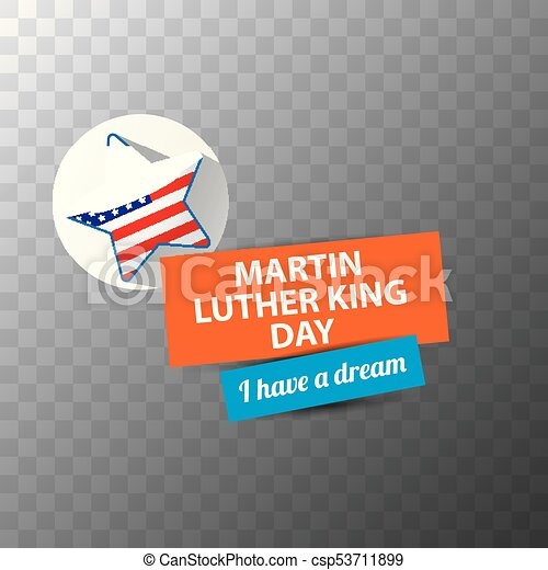 Vector Martin Luther King Jr Day Sticker Or Label Isolated Eps