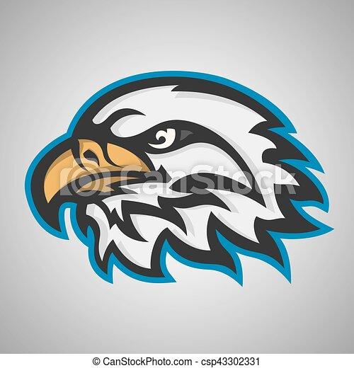 Vector Mascot head of an eagle  Sport logo