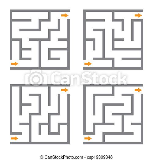 Vector maze - csp19309348