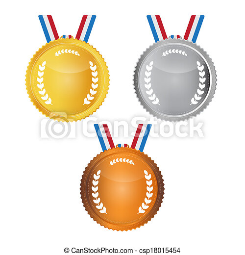 Vector Medals Set Isolated on White Background - csp18015454