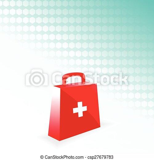 vector medical bag - csp27679783