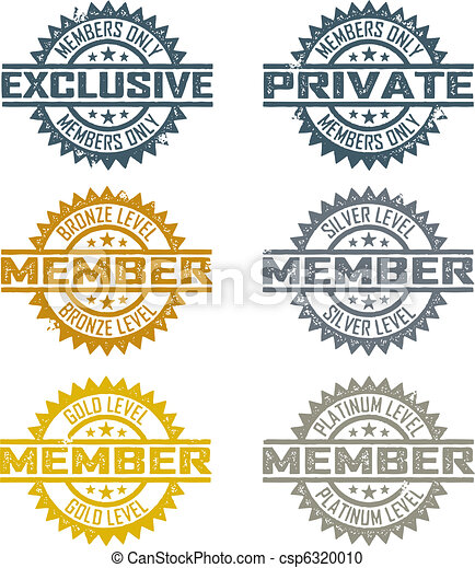 Vector Member Stamps Rubber Stamp Style Member Designs Includes
