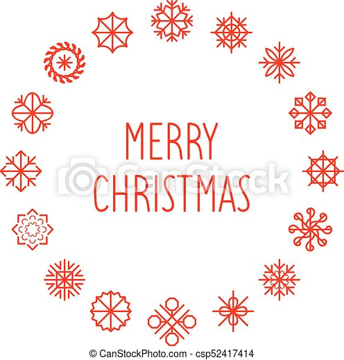 vector merry christmas text in round snowflakes frame new year greeting card nativity texture or