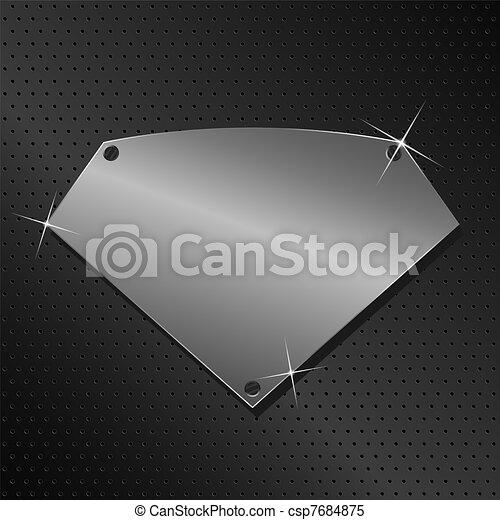 vector, metaal, schild - csp7684875