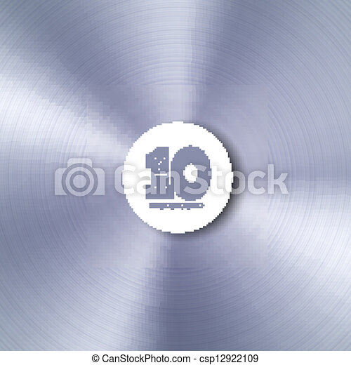 Vector metal background with sample text. Eps 10 - csp12922109