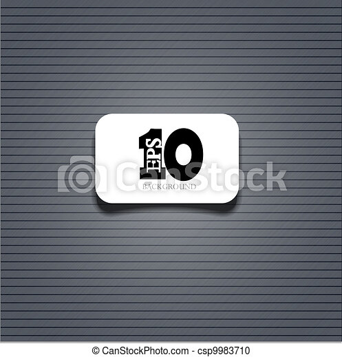 Vector metal background with sample text. Eps 10 - csp9983710