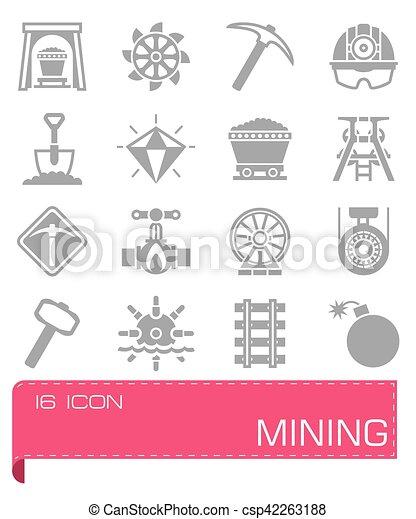 Vector Mining icon set - csp42263188
