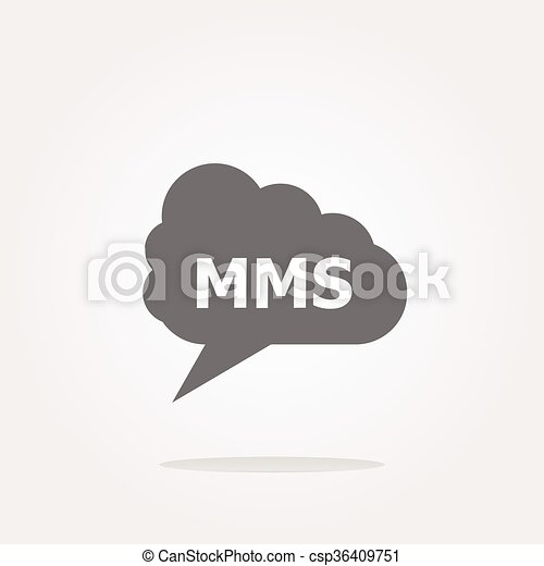 vector mms glossy web icon isolated on white background - csp36409751