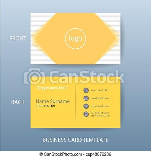 vector modern and clean business card design template vector modern