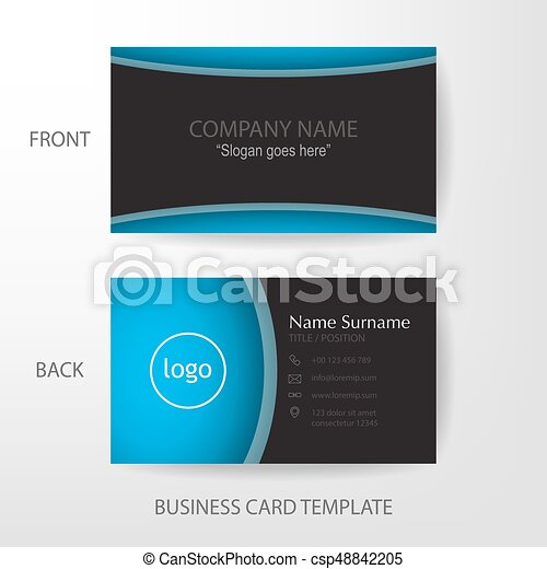 Vector modern and clean business card design template vector modern vector modern and clean business card design template reheart Images