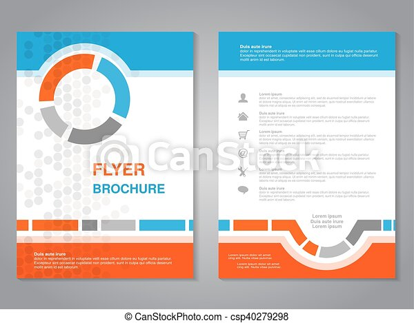 Vector Modern Brochure Abstract Flyer With Simple Dotted Design