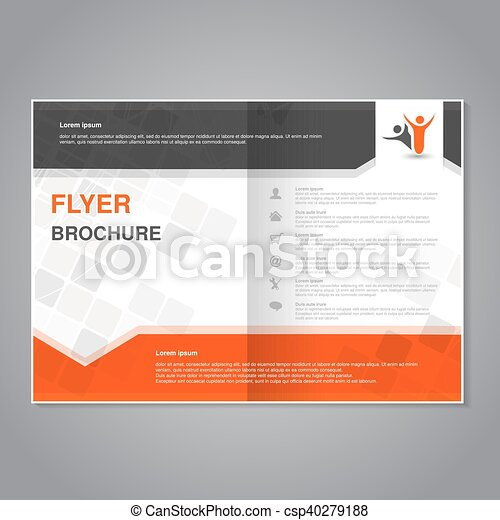 Vector modern brochure abstract flyer with simple modern design aspect ratio for a4 size poster