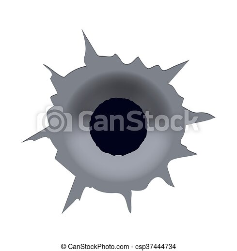 vector modern bullet hole on white background eps10 vectors rh canstockphoto com bullet hole clip art vector Real Bullet Holes