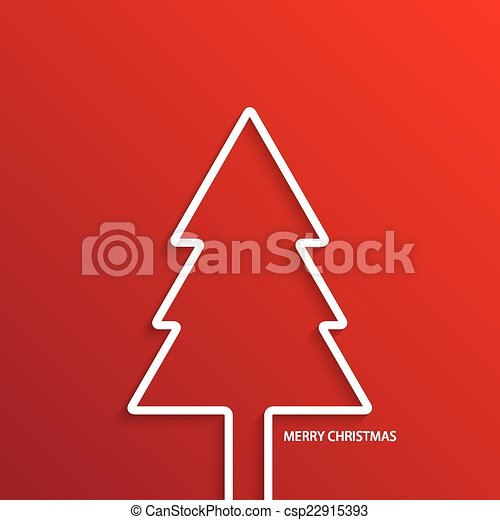Vector modern  christmas tree background. - csp22915393