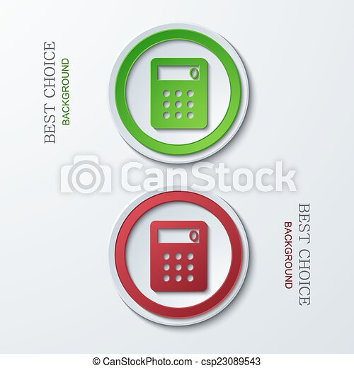 Vector modern circle icons - csp23089543
