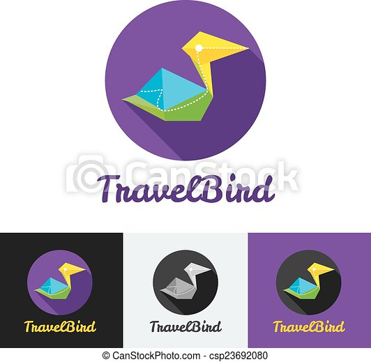 Vector modern flat creative travel company minimalistic logo  - csp23692080