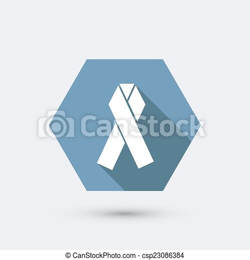 vector modern flat icon with long shadow. - csp23086384
