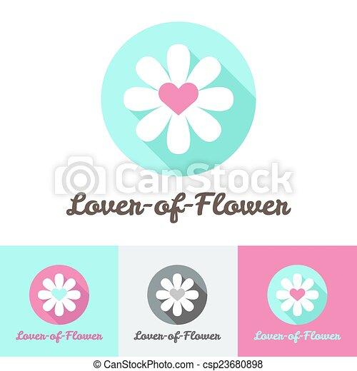Vector modern flat minimalistic flower shop logo - csp23680898