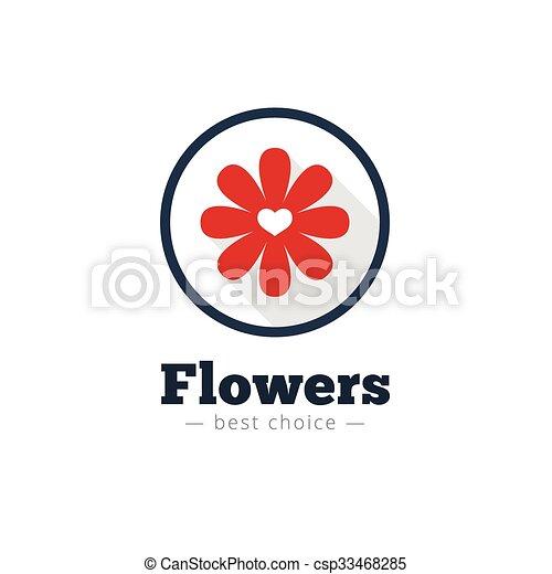 Vector modern flat minimalistic flower shop logo - csp33468285