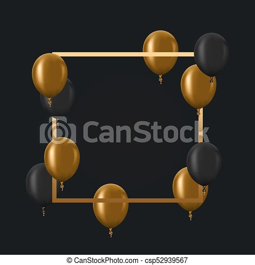 Vector modern golden balloons background for happy birthday or vector modern golden balloons background for happy birthday or anniversary day event invitation stopboris Choice Image