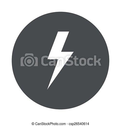 Vector modern  gray circle icon  - csp26540614