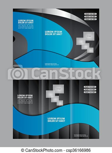 vector modern tri fold brochure design template vector search clip