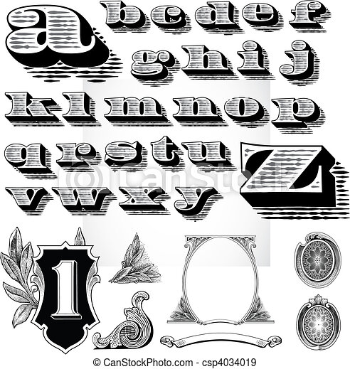 vector money elements detailed elements based on a dollar bill