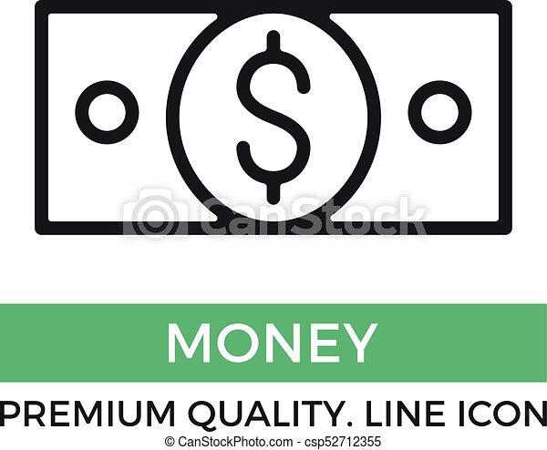 vector money icon 100 dollar bill banknote premium quality graphic rh canstockphoto com  100 dollar bill vector free