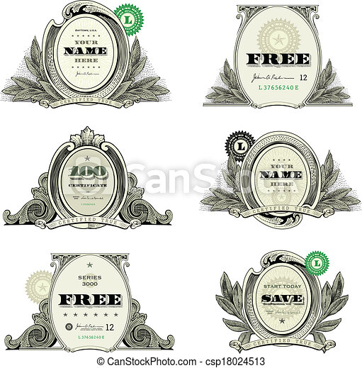 vector money logo and badge set easy to edit vector money logo and
