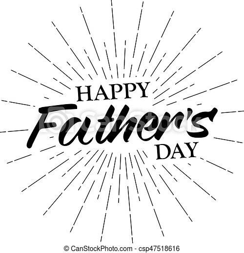 vector monochrome text happy father s day for greeting card flyer