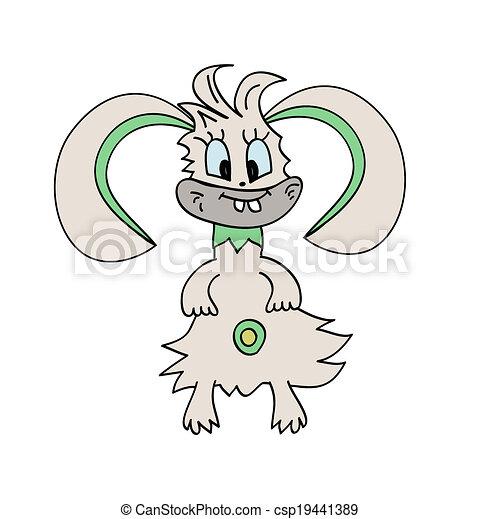 Ilustración de vector de conejo monstruo - csp19441389