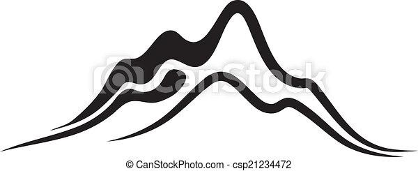 vector, montañas, -, escarpado, picos - csp21234472