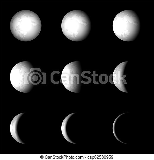 Moon Phase Vector Clip Art Eps Images 2337 Moon Phase Clipart