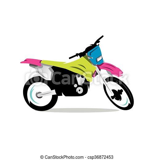 Vector Motocross Bike Cartoon Illustration. - csp36872453