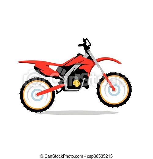 vector motocross bike cartoon illustration red motocross rh canstockphoto com dirt bike clipart black and white dirt bike racing clipart